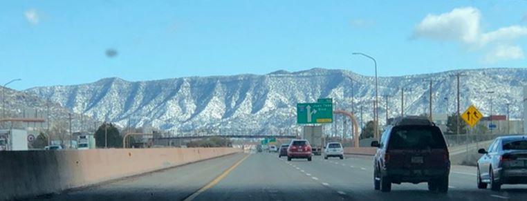 Sandia Mountains from I-40 in Albuquerque