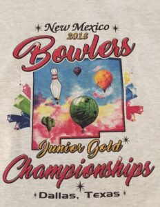Shirts worn by Junior Gold bowlers 2018 and designed by Yarelis Alvarez