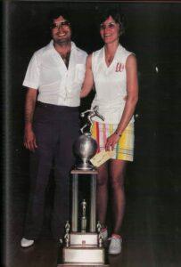 Art Silva with Diana Silva 1979 US Women's Open Champion