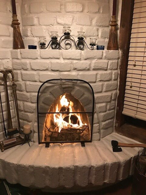 Adobe Kiva fireplace