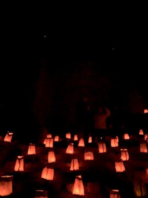 Luminarias at Christmas