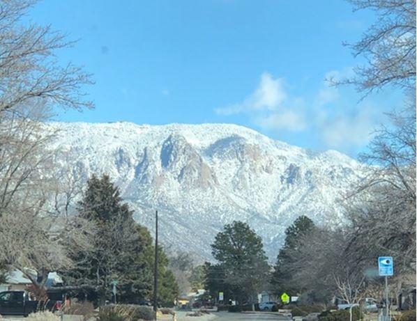 Sandia Mountains from Albuquerque