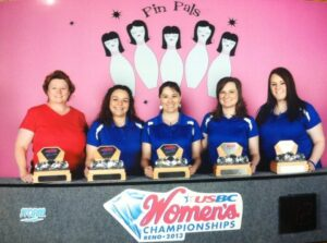Some Strike It Hot! 2012 USBC Women's Championship Team Diamond Division Champions:  Tina Ingram, Brandy Silva, Marsha D. Kuhnley, Shanua T. Shannon & Wendy Shelton
