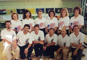 Team USA Mark D Van Meter, third from right on bottom