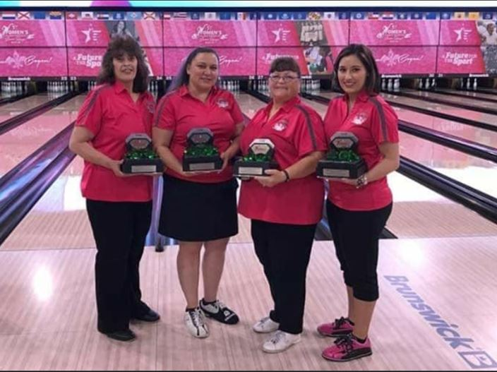 Toooo Hot!!  2016 USBC Women's Championship Team Emerald Division Champions: Margaret Romero, Cynthia Martinez, Betty Veitch, Crystal Espinosa