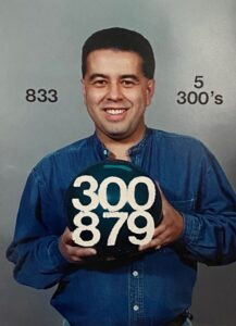 Joe G. Romero - shot 309-289-290-279 his first 4 games as a PBA member. He was only 18 years old!