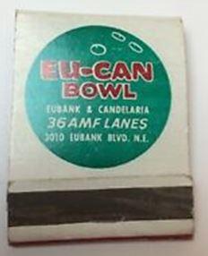 Eu-Can Bowl matchbook